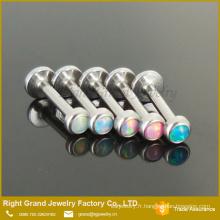 Anneau de filetage interne de la lèvre d'Opale assortis couleurs synthétiques opale de feu
