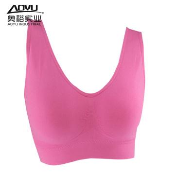 Atacado Mulheres Underwear Seamless Fitness Wear Bra Top