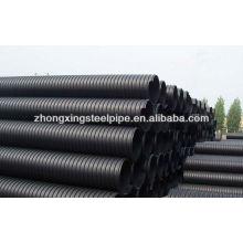 HDPE двустенные гофрированные трубы для воды дренажные подземные трубы