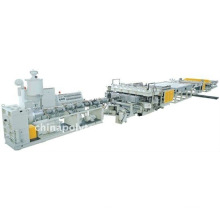 PC/PP/PE/PVC hollow sheet extrusion line