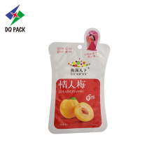 Yellow Peach Taste Snacks Packaging Doypack With Zipper