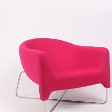 New Home Design Möbel Stoff Sofa Stuhl mit Metall Bein