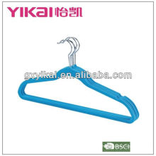 excellent quality flock pant hanger with notches trousers bar