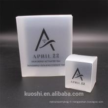 Les boîtes transparentes d'emballage de PVC emballent le paquet d'affichage en plastique transparent