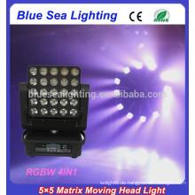 2015 neue 5x5 Matrix führte beweglichen Kopf rgbw waschen Strahl Licht
