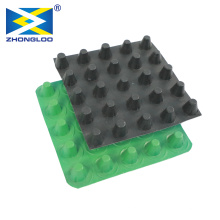 Eco-friendly Construction Waterproof Dimple Membrane Drain Mat Plastic Sheet HDPE Drainage Board Cell With Cheap Price