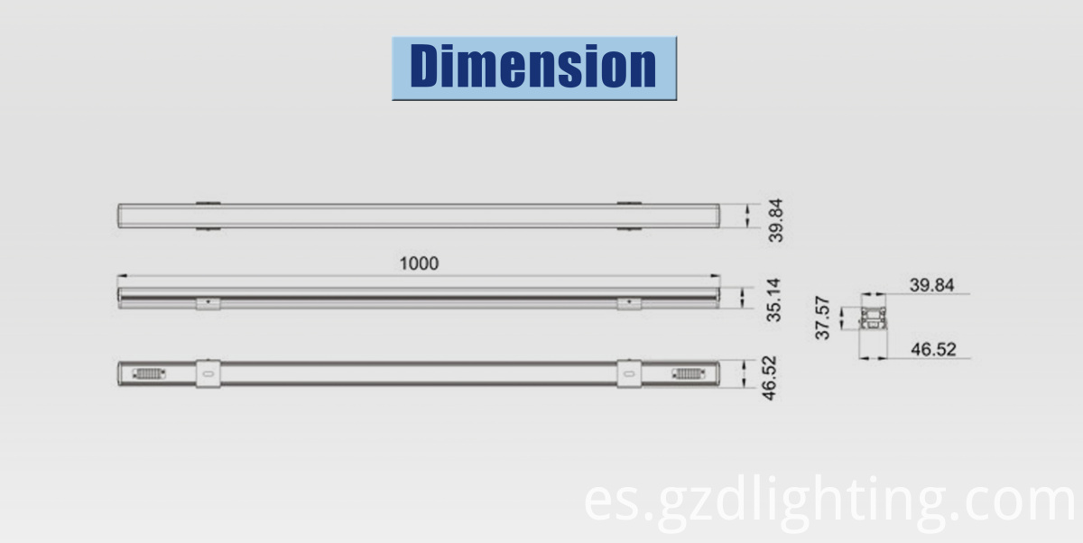 rigid led light bar dimension