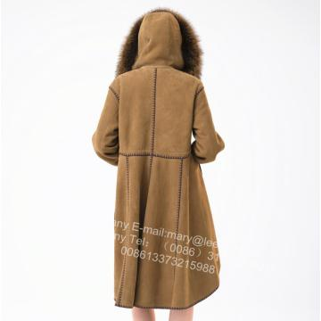 Hiszpania Merino Shearling Coat With Motif