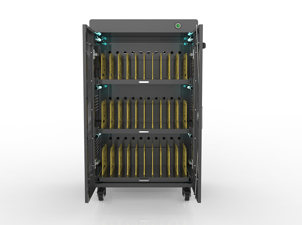 Laptop UV lamp disinfection charging carts in hospital