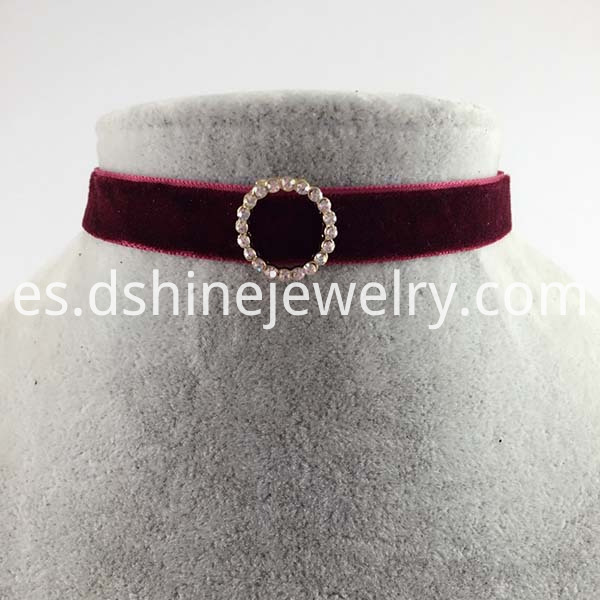 Velvet Choker Circle Collar Necklace