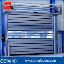 Puerta de seguridad de aluminio laminado en espiral rápida