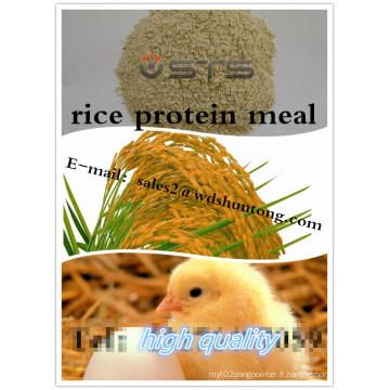 Repas de protéine de riz pour l'alimentation des animaux avec des protéines élevées