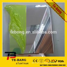 Feuille de miroir en aluminium anodisé / réfléchissant pour matériau mural