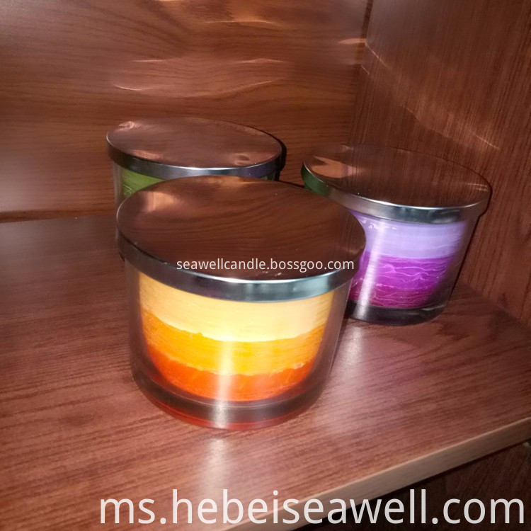 3 Wick Candles Same Color Shade Candles (4)