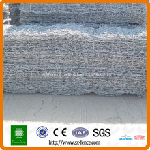 Triple twist gabion mesh retailing wall