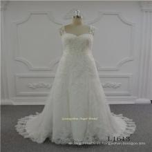 Vestido nupcial de la boda del nuevo vestido de la correa de la alineada