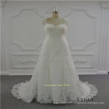 Strap Aline New Design Wedding Bridal Dress