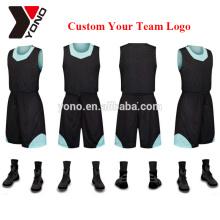 ensembles de maillot de basket-ball de conception simple pour les hommes en gros de haute qualité prix concurrentiel nouveaux kits uniformes de basket-ball