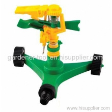 Plastic Impulse Water Sprinkler With Plastic Wheel Base