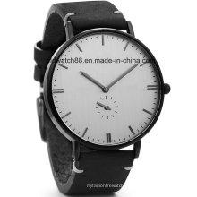 Klassische Herren Armbanduhr mit Lederband