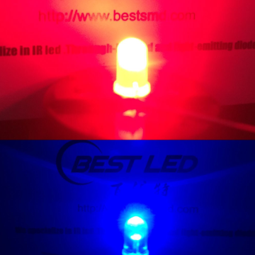 Hög Bright 5mm Dual Color LED Röd Blå