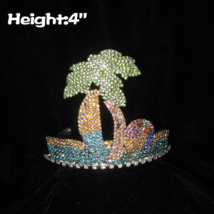 Crystal Plam Tree Summer Beach Coronas