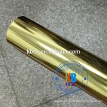 Folha de carimbo quente plástica do couro do plutônio 64cm * 120m na máquina de carimbo
