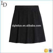 Mini-jupe plissée noire Fashion féminine
