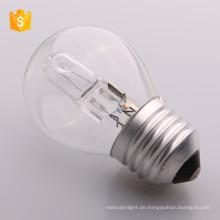 ECO G45 A55 C35 E14 E27 72W 53W 42W Energiesparende Halogenlampe