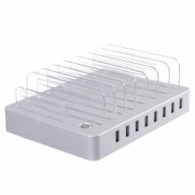 Desktop-Ladestation 96W 8 Anschlüsse USB-Ladegerät mit Steckplätzen
