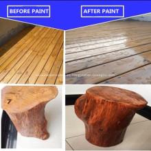 Aceite de tung antes y después de la pintura de madera