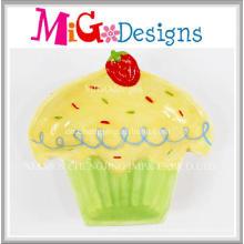 Assiette et plat de conception de gâteau en céramique de cadeau promotionnel