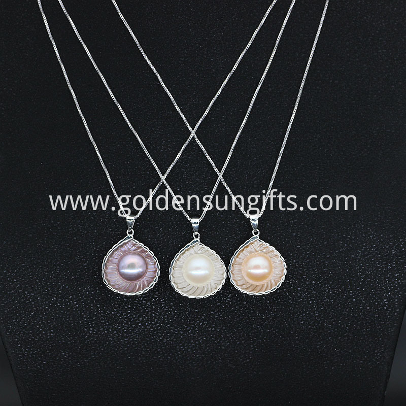 Single Freshwater Pearl Pendant Chain