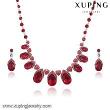 63908 nouveau mode luxe CZ diamant rhodium ensemble de bijoux pour le mariage ou la fête