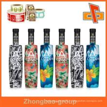 Matériel d'emballage fournisseur en porcelaine personnaliser les étiquettes de bouteilles en plastique PET imperméables à la chaleur et à l'eau avec votre conception