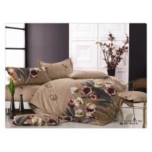 Luxus 40s 128 * 68 Pigment Druck Bettwäsche Set mit gestreiften Bett Duvet Cover King Size