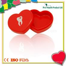 Мини-прозрачный держатель для хранения протезов для молочных зубов