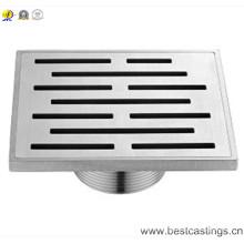 304 Drain de douche carrée en acier inoxydable