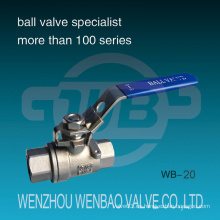 DIN 2-PC Válvula de bola manual roscada 1000 Wog