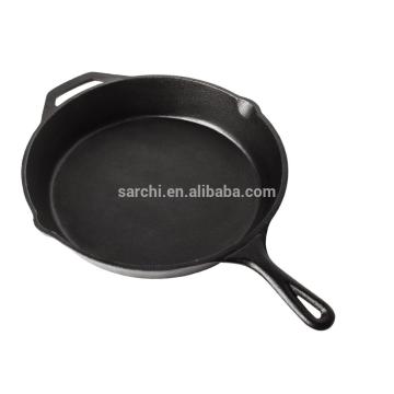 2016 cacerola caliente del hierro fundido del negro de la venta