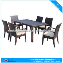 Hot Sale Modern restaurant rattan dinning table and chair