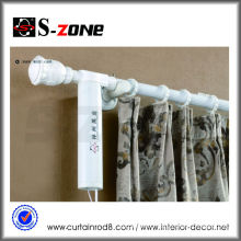 White motorized wireless motorized curtains roman rod sets motor for electrical curtain