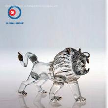 Botella de borosilicato en forma de animal artesanal