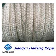 Corda de nylon da corda da amarração da corda da trança dobro da corda