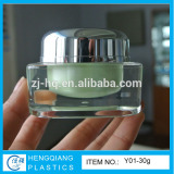 Y01square acrylic cosmetic jars