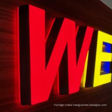 Backlit LED Channel 3D Letter Sign Illuminated Outdoor LED Open Signage