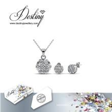 La valeur destin bijoux cristal de Swarovski brillant pendentif et boucles d'oreilles