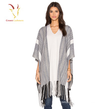 wholesale winter tassel women cashmere Knitted poncho