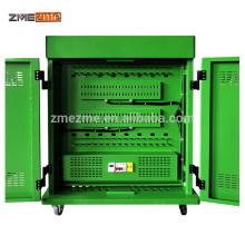 Armário / carro de carregamento do armazenamento do portátil da escola de ZMEZME / Ipad / tabuleta com corrimão