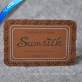 China Made Leather Patch Label for apparel and Bags